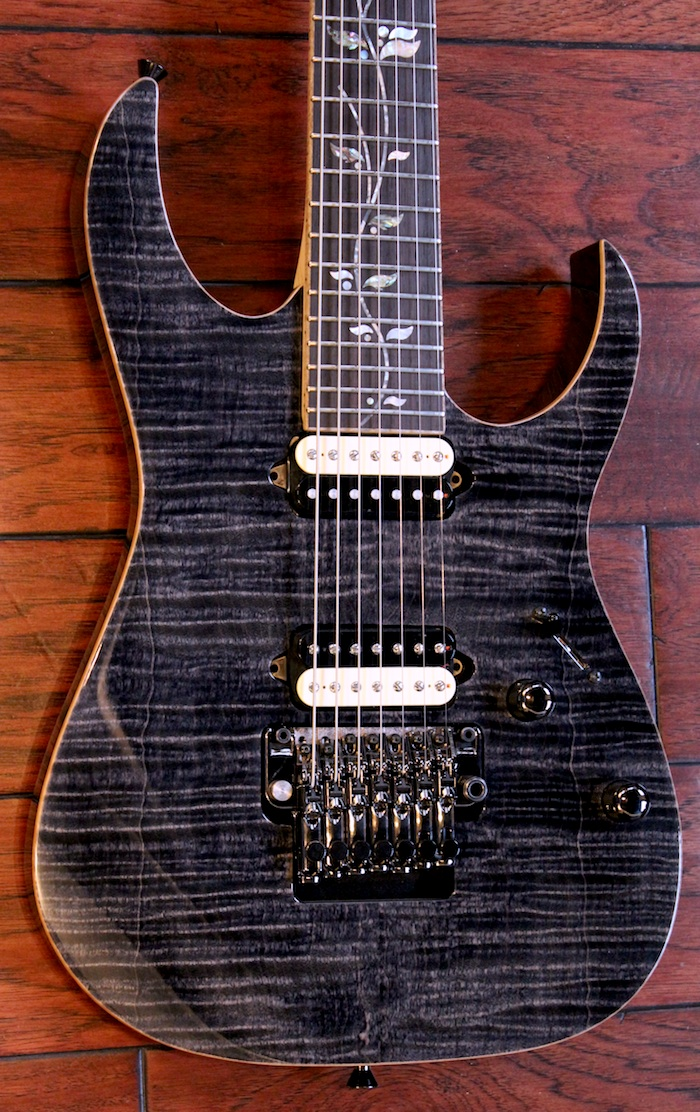 ibanez j custom jcrg20127 black opal 7 string w bare knuckle aftermath pickups ebay. Black Bedroom Furniture Sets. Home Design Ideas